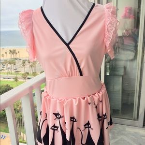 Kitty Princess Pink & Black 1 of a Kind Dress